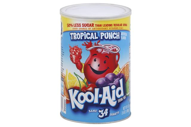 KOOL-AID 66.6 OZ SOFT DRINK-POWDERED  TROPICAL PUNCH 1 CAN EACH