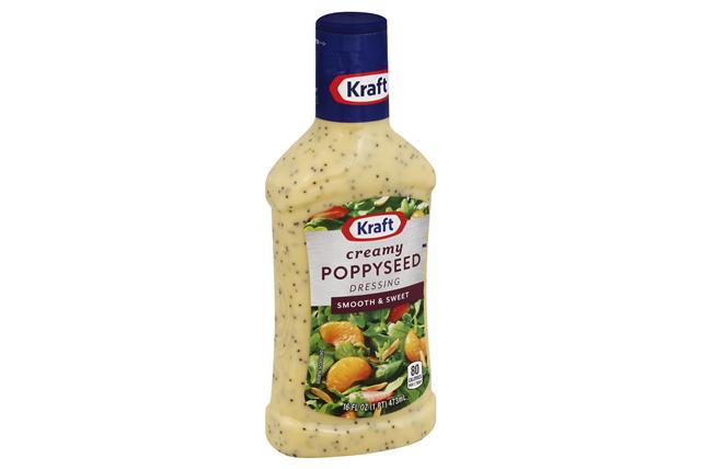 KRAFT Creamy Poppysead Dressing 16 oz Bottle