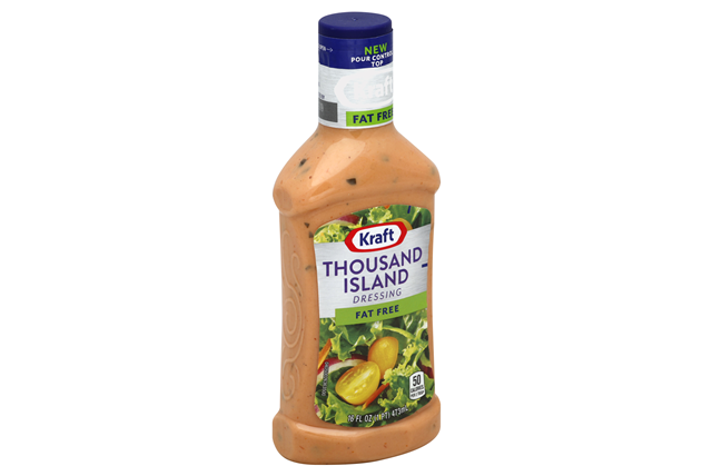 KRAFT Thousand Island Fat Free Dressing 16 oz Bottle