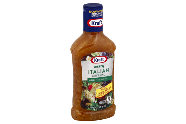 KRAFT Zesty Italian Dressing 16 oz Bottle
