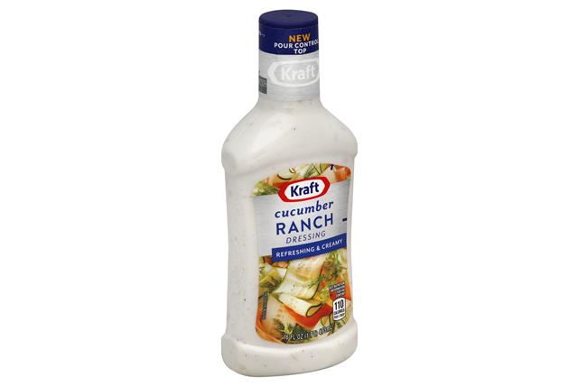KRAFT Cucumber Ranch Dressing 16 oz Bottle