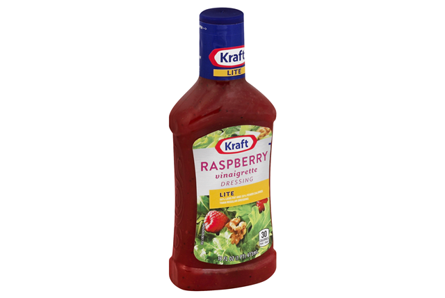 KRAFT Raspberry Light Vinaigrette Dressing 16 oz Bottle