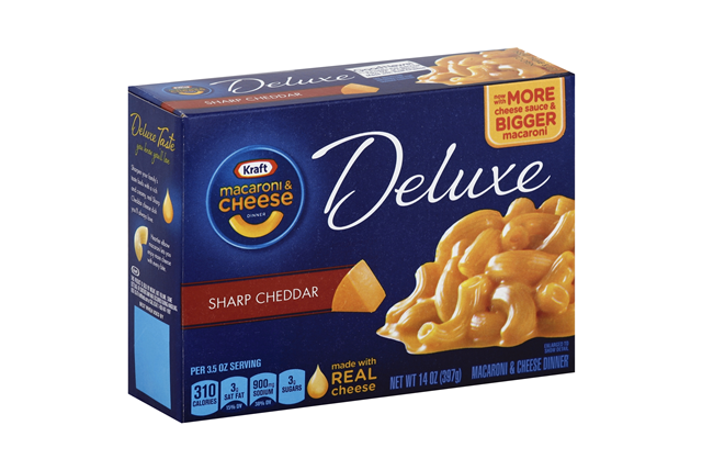 Kraft Dinners Deluxe Sharp Cheddar Macaroni & Cheese Dinner 14 Oz Box
