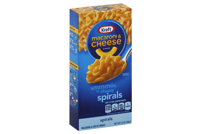 Kraft Spirals Macaroni & Cheese Dinner 5.5 oz. Box