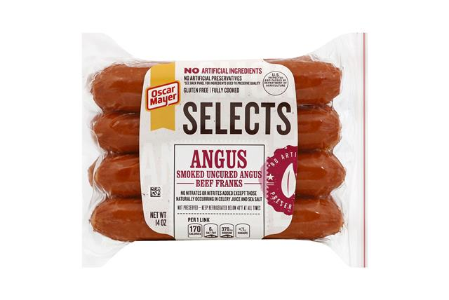 Oscar Mayer 14 Oz Selects Hot Dogs  Angus Beef     1 Vacuum Packed Each