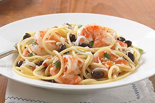 Shrimp and Black Bean Pasta