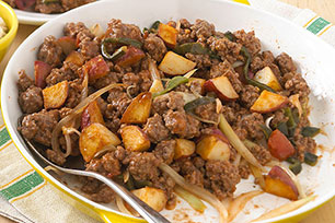 Skillet Beef Picadillo with Walnut Sauce