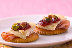 Raspberry-Brie RITZ Toppers