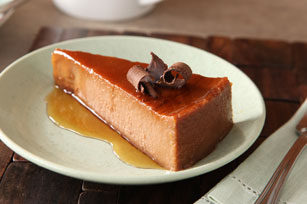Chocolate-Hazelnut Cream Cheese Flan Image 1