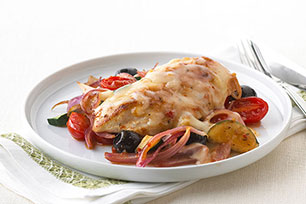 Pollo a la mediterránea con mozzarella