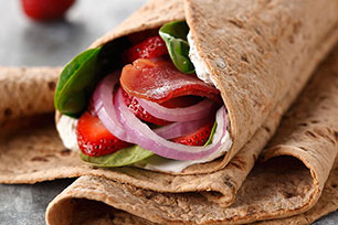 Bacon-Berry Flatbread Wrap