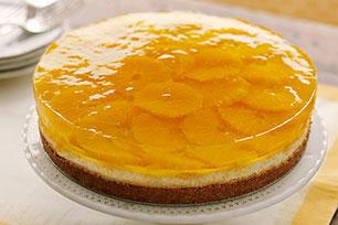 Citrus-Gelatin Layered Cheesecake