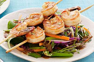 Asian Sesame Salad with Blackened Shrimp