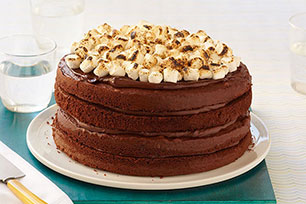 Double Chocolate-Marshmallow Cake