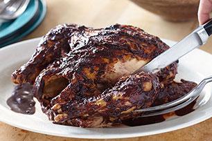 Pollo con salsa BBQ al chile ancho
