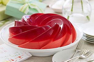 Raspberry-Rose Petal Gelatin