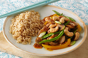 Stir-Fry of Pork, Mushrooms and Snow Peas