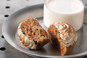Muffins de pastel de zanahoria