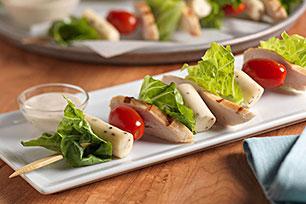 Chicken Caesar Salad Skewers