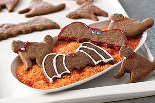 Murciélagos y gatos de galletas de chocolate para Halloween