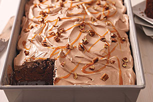 No-Fuss Chocolate and Caramel Cake