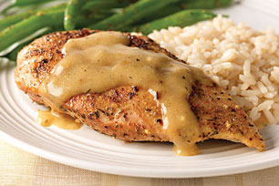 Chicken with Garlic & Herb Sauce