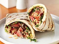 Spicy Beef Wrap