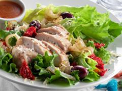 Warm Mediterranean Grilled Chicken Salad