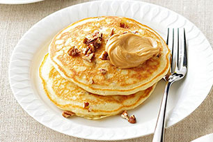 Banana-Peanut Butter Pancakes