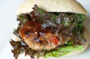 Mini BBQ Turkey Burgers with Orange Zest Image 1