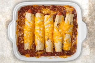 Classic Cheesy Chili Hot Dog Casserole Image 1