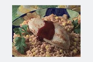 15 Minute BBQ Chicken & Rice Dinner Image 1