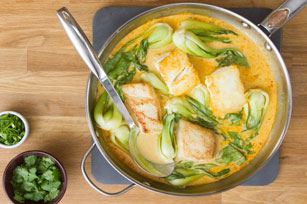 Pan-Seared Halibut in Coconut-Curry Broth Image 1