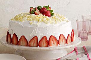 White Chocolate-Strawberry Tres Leches Cake