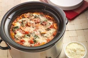 Slow-Cooker Mushroom-Spinach Lasagna