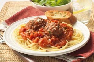 Classic Spaghetti & Parmesan Meatballs
