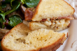 Mushroom-Bacon Grilled Cheese Sandwich