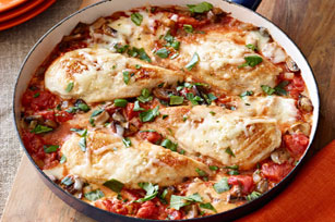 Saucy Chicken Parmesan Skillet