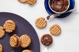 Peanut Butter-Chocolate Sandwich Cookies
