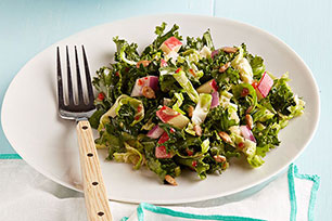 Kale Salad with Honey-Mustard Vinaigrette