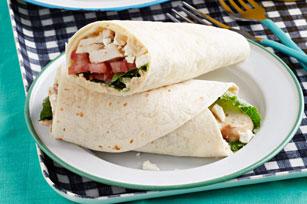 Mediterranean Chicken & Hummus Wraps