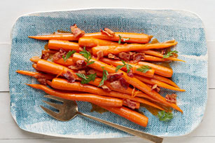 Orange-Glazed Carrots with Bacon Image 1