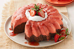 Strawberry Chocoflan