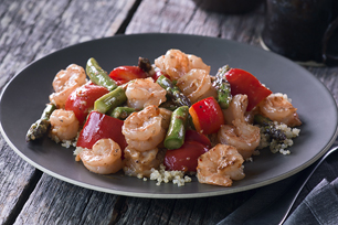 Shrimp & Asparagus with Lemon Quinoa