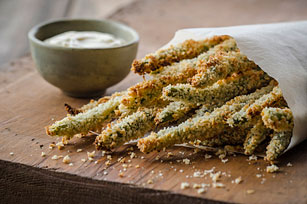 "Green Bean ""Fries"" with Lemon Aioli Image 1"