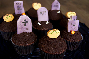Halloween Gravestone Marshmallow Cupcake Toppers