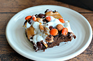 Halloween Monster Munch Brownie Bars