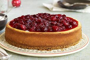 Cheesecake de canela y arándanos rojos