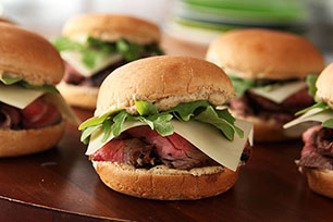 Grilled Steak & White Cheddar Sliders