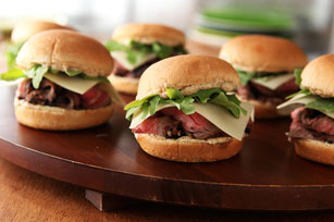 Grilled Steak and Cheese Sliders Image 1